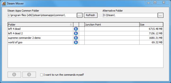 Steam Mover Screenshot
